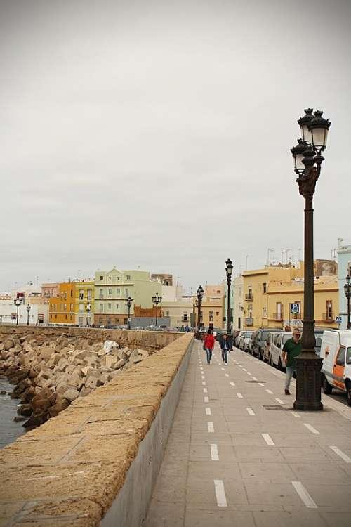 Cadiz Spain Sea Water Andalusia Sky Landscape