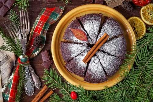 Cake Pie Christmas Cake Food Sweets Sponge Cake