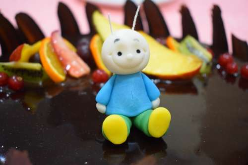Cake Birthday Berry Marzipan