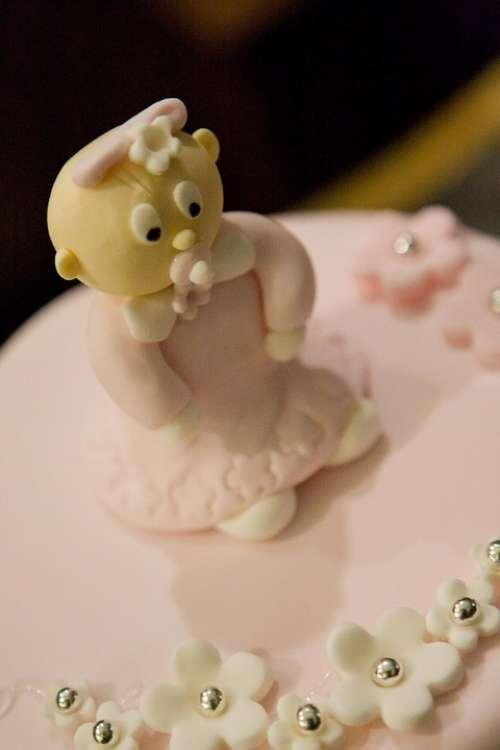 Cake Figure Baby Pink Nice