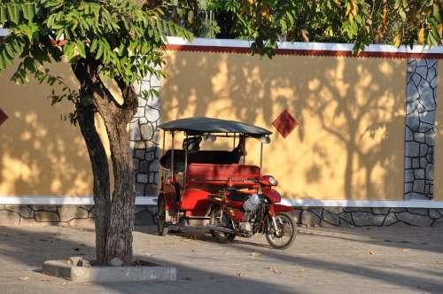 Cambodia Rickshaw Phnom Penh Car