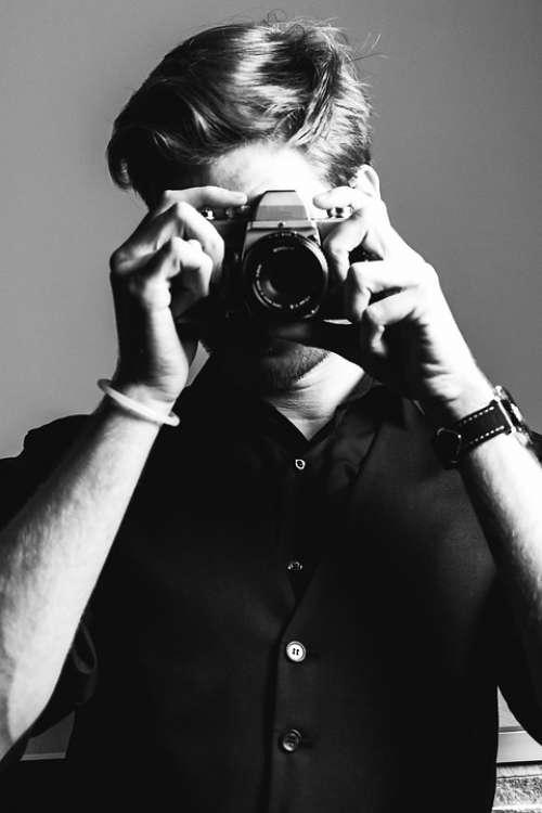 Camera Young Photographer Beauty Portrait Fashion