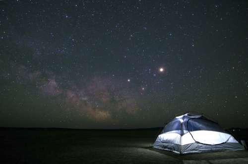 Camping Constellation Cosmos Dark Exploration