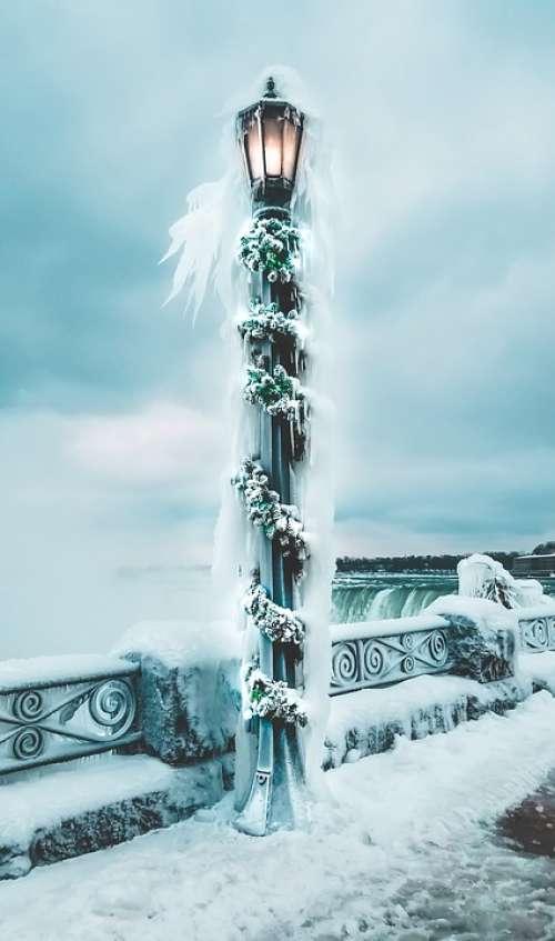 Canada Frozen Niagara Falls Winter Snow
