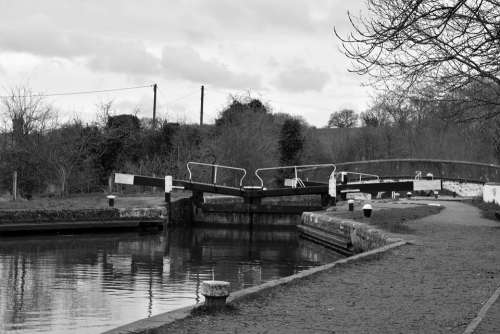 Canal Lock Channel Water Infrastructure London