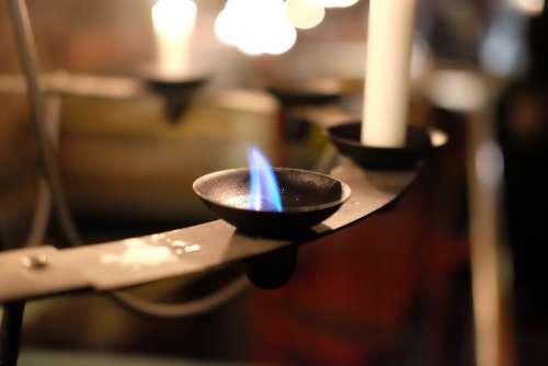 Candelabra Light Candles Flame Candlestick Holder