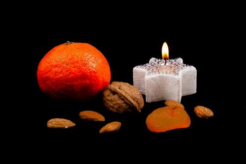Candle Festive Mood Candy Orange Mood Light