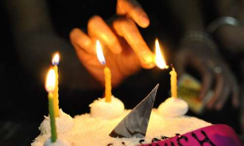 Candles Light Cake Celebration Decoration Bright