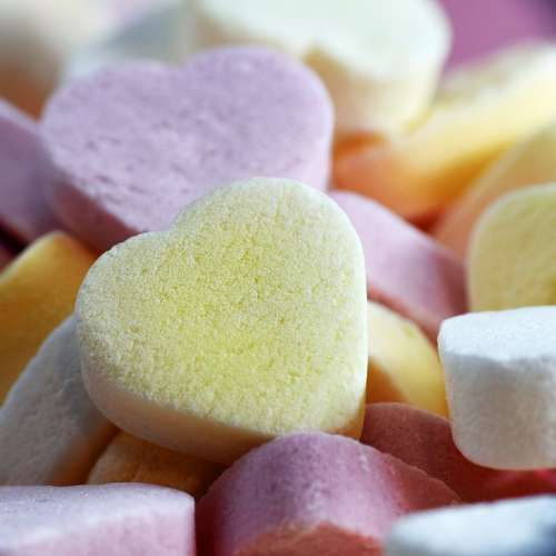 Candy Heart Sugar Sweet Food Decoration Eat Pink