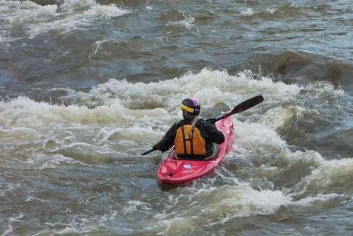 Canoeing Water Sport Paddle Kayak Boat Paddler