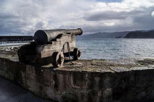 Canon Asturias Sea Shore Defense Weapons Shoot