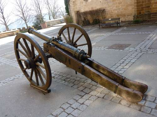 Canon Hohenzollern Castle Germany German