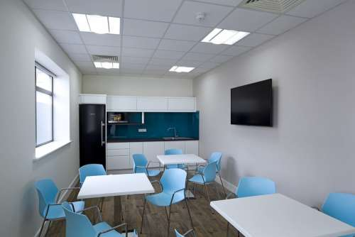 Canteen Blue Seating Kitchen Office Catering