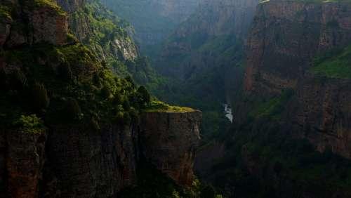 Canyon Mountains Deep Gorge Rocks Landscape Aksu