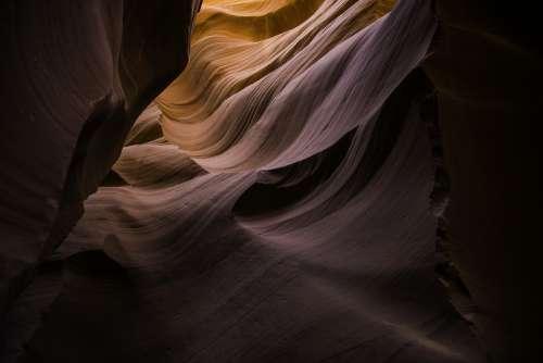Canyon Desert Landscape Pattern Sandstone Texture