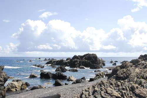 Cape Muroto Kochi Prefecture Muroto Cape Summer Beach