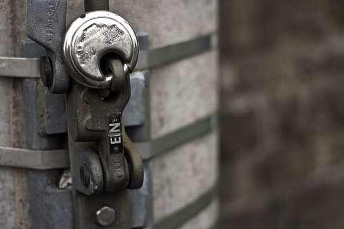 Caption Close Up Shield Closures Padlock Castle