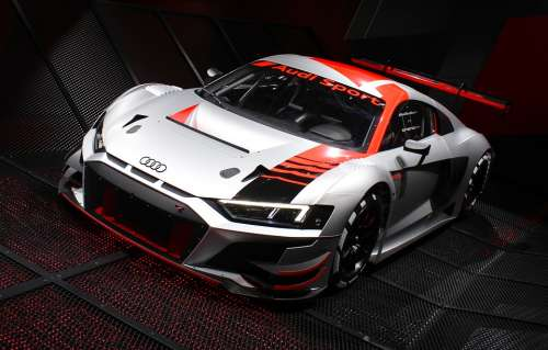 Car Audi Automobile R8 Vehicle Auto Red Engine
