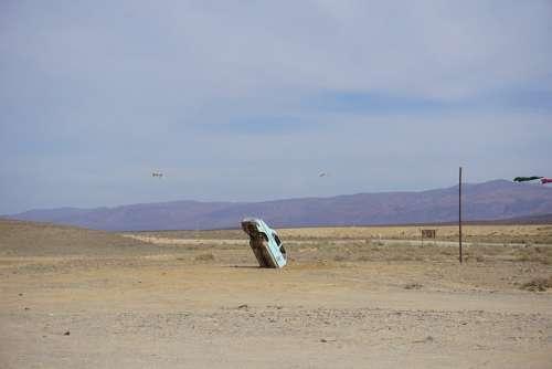 Car Tankwa South Africa Stunt Desolate Space