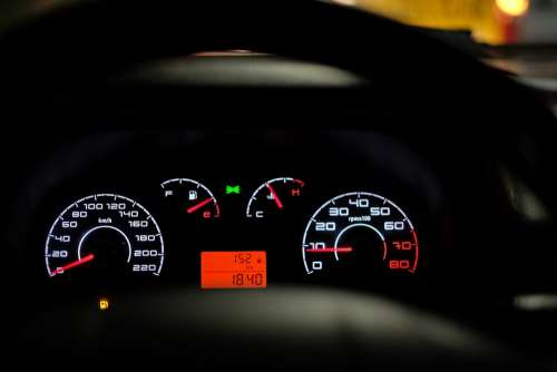 Car Dashboard Speedometer Speed Car Dashboard