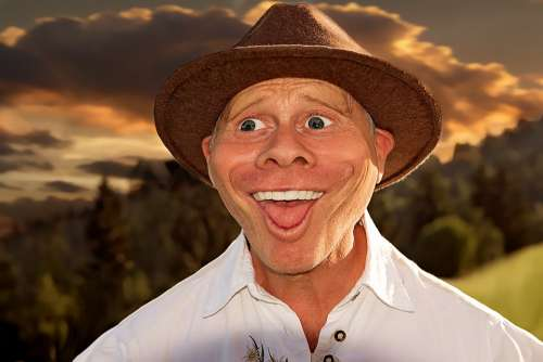 Caricature Human Person Male Man Comic Funny Hat