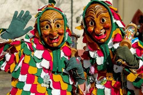 Carnival Fasnet Swabian Alemannic Wooden Mask