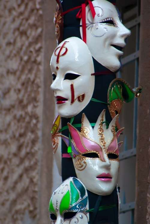 Carnival Masks Romance Mysterious Costume