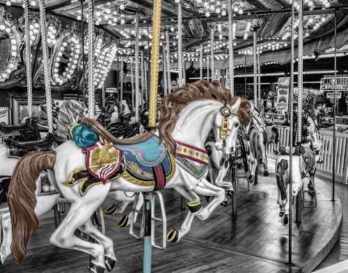 Carousel Merry-Go-Round Roundabout Whirligig