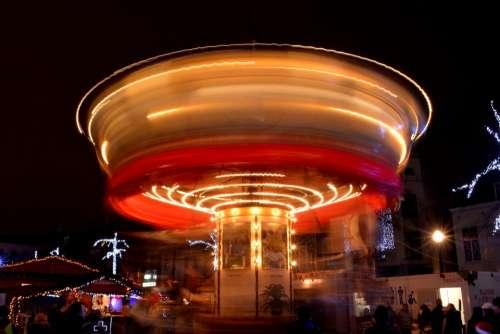 Carousel Light Colors Funfair Mill