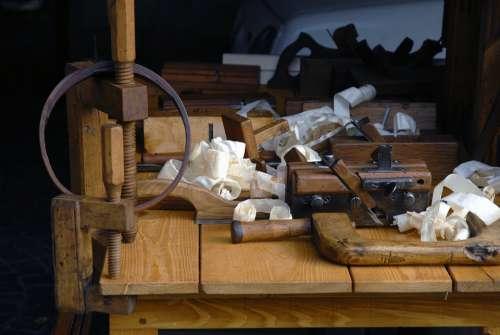 Carpenter Plane Flat-Band Shavings Wood