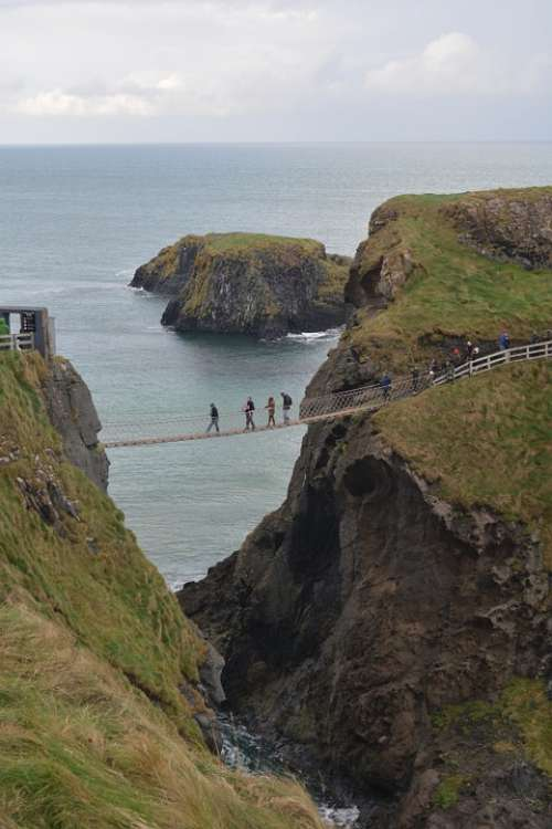 Carrick-A-Rede Northern Ireland Nature Rocks Sea