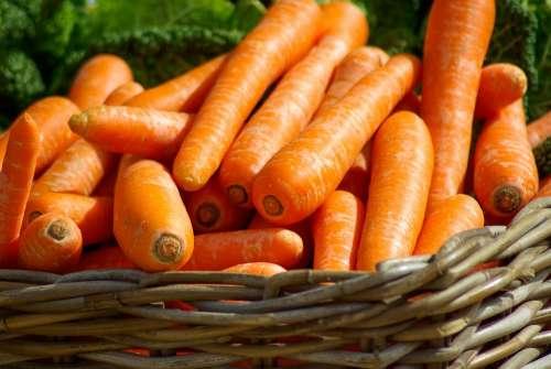 Carrots Basket Vegetables Market Food
