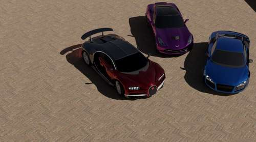 Cars Bugatti Chiron Chevrolet Corvette Stingray