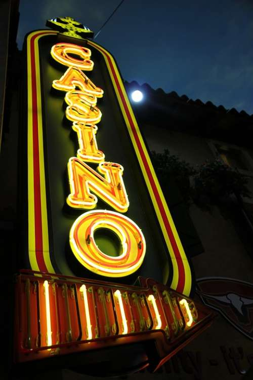 Casino Neon Entertainment Sign Light Advertising