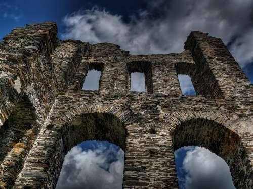 Castle Middle Ages Sublime Enormous Imposing