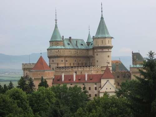 Castle A Fairy Tale Fabulous View Landscape
