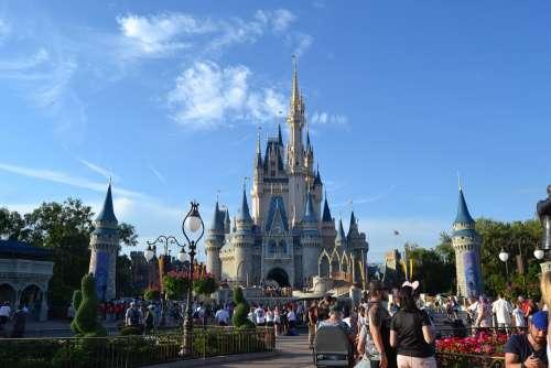 Castle Disney Orlando Magic Florida Holidays