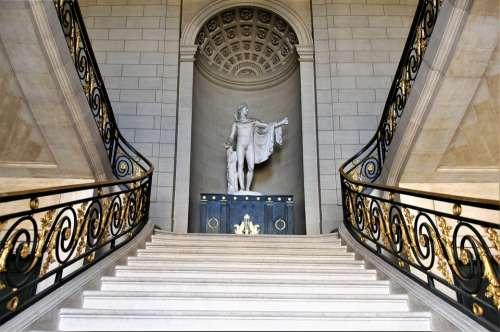 Castle Compiègne France Staircase Grand Marble