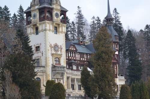 Castle Peles Sinaia Architecture Building Museum