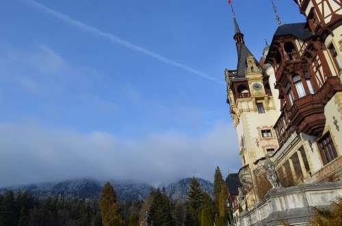 Castle Peles Sinaia Building Royal Landscape