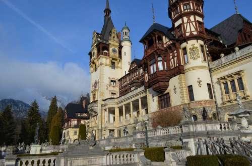 Castle Peles Architecture Building Royal Medieval