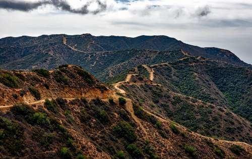 Catalina Island California Landscape Dirt Road