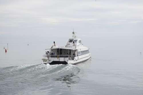 Catamaran Ship Lake Lake Constance Water