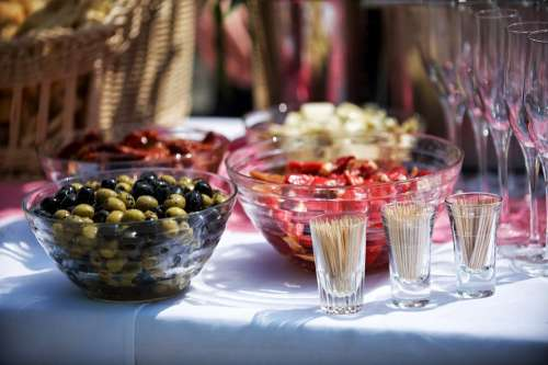 Catering Buffet Food Olives Restaurant Cater