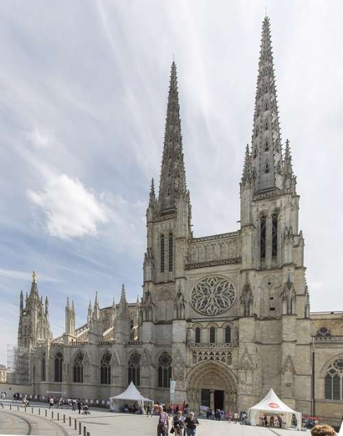 Cathedral France Bordeaux Church Architecture
