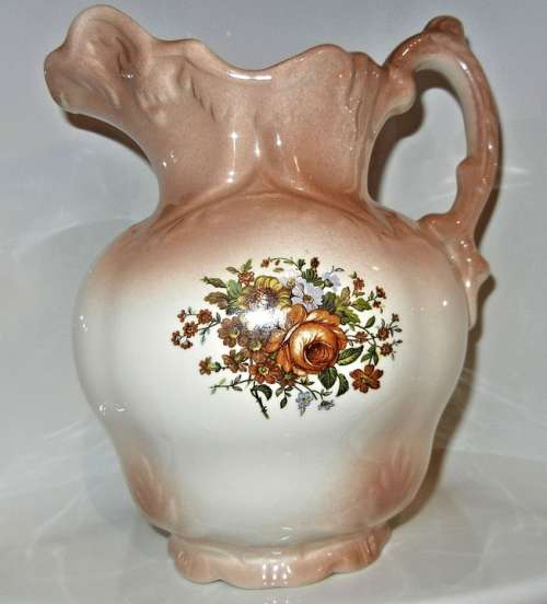 Ceramic Vase Antique Hand Painted