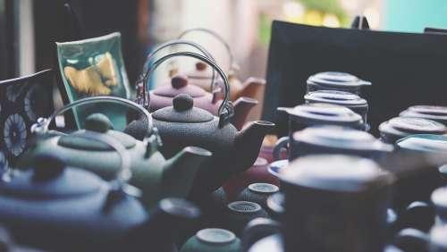 Ceramics Close-Up Colorful Teapots Tea