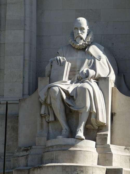 Cervantes Madrid Spain Castile Monument Poet Man