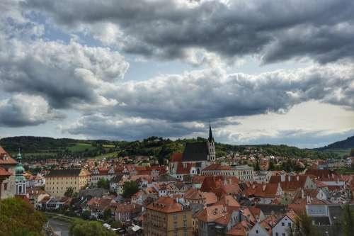 Český Krumlov Krumlov Hdr City Sky