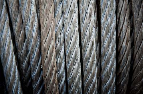 Chain Metal Detail Close-Up Steel Rope